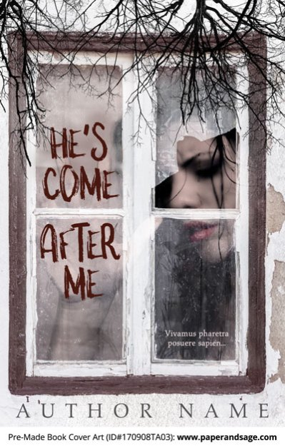 Pre-Made Book Cover ID#170908TA03 (He's Come After Me)