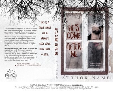 Print layout for Pre-Made Book Cover ID#170908TA03 (He's Come After Me)