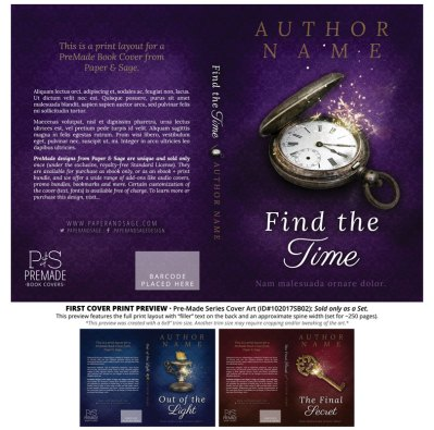 Print layout for PreMade Series Covers ID#102017SB02 (Find the Time, Only Sold as a Set)