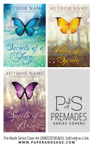 PreMade Series Covers ID#022018SA02 (Secrets of a Fairy, Only Sold as a Set)