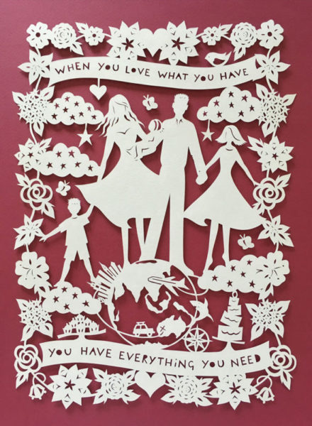 Bespoke Design for family - Paper Cut Gifts