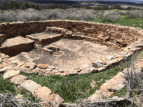 A circular Kiva which was a place for meetings and ceremonies.