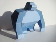 Papercraft recortable de un gorila / gorilla.