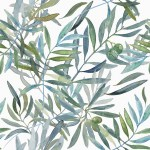 Olive branch fabric design