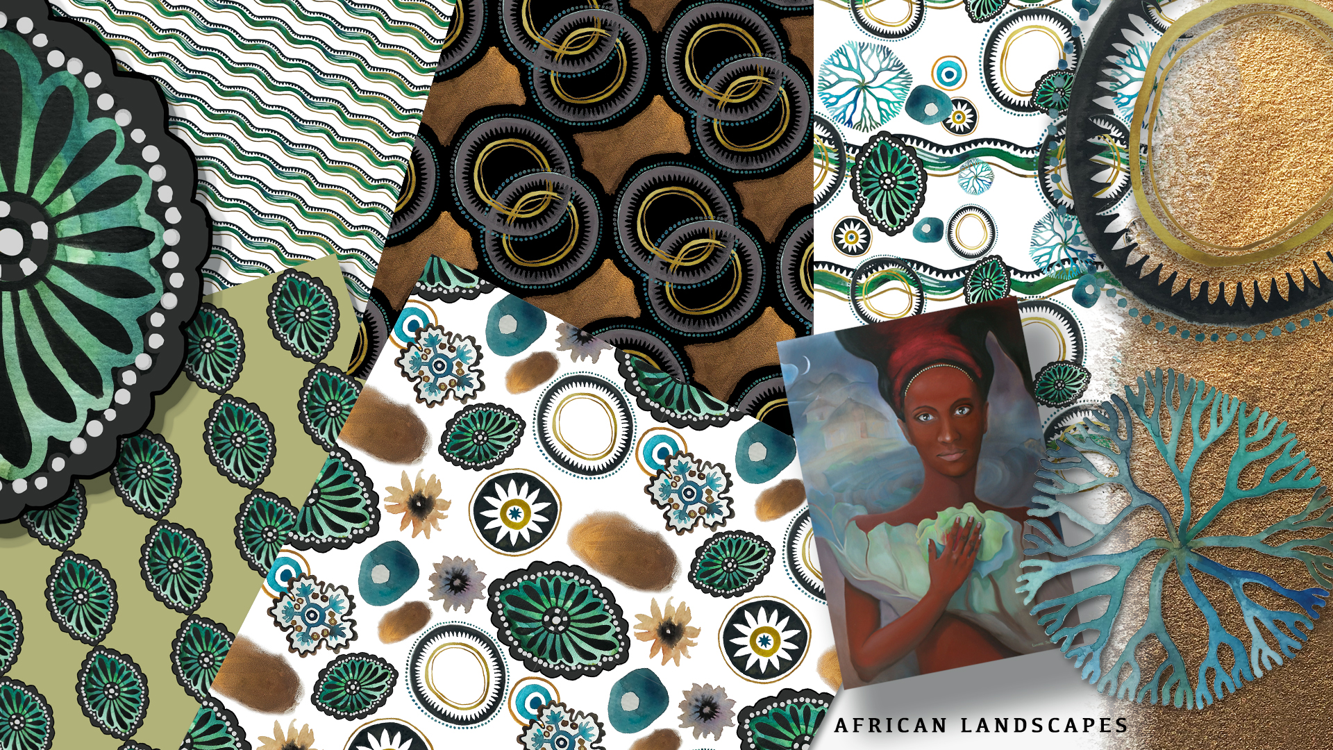 African landscape fabric collection