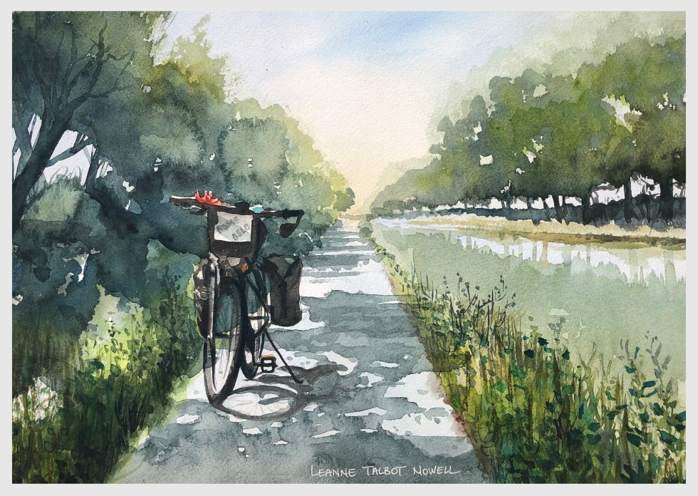day 27 Rome to Oslo, watercolour Leanne Talbot Nowell