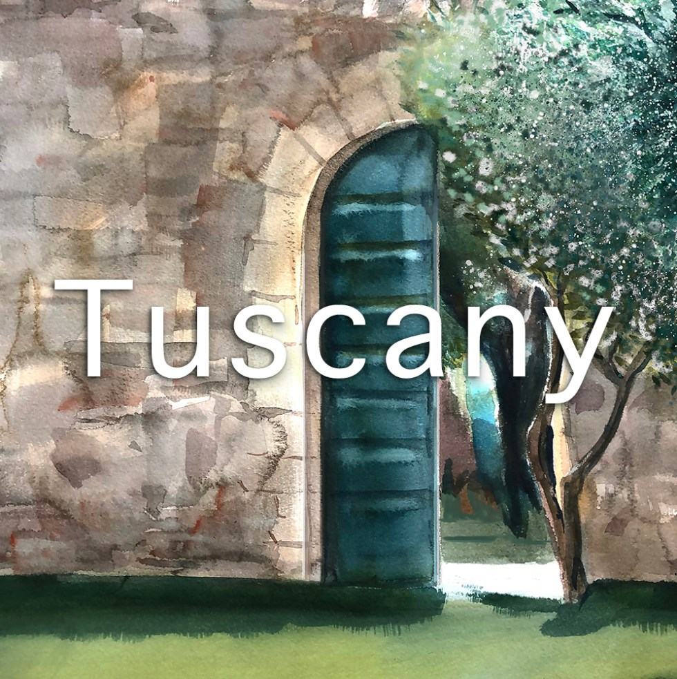 Tuscany paintings prints by Leanne Talbot Nowell