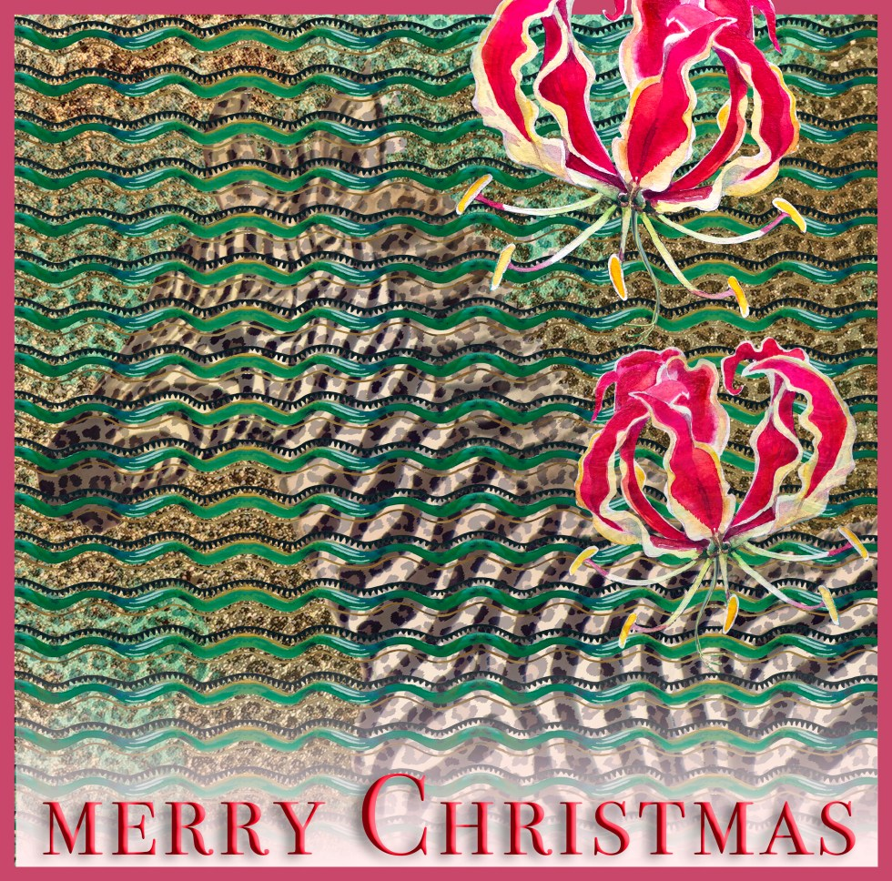 African christmas card by Leanne Nowell