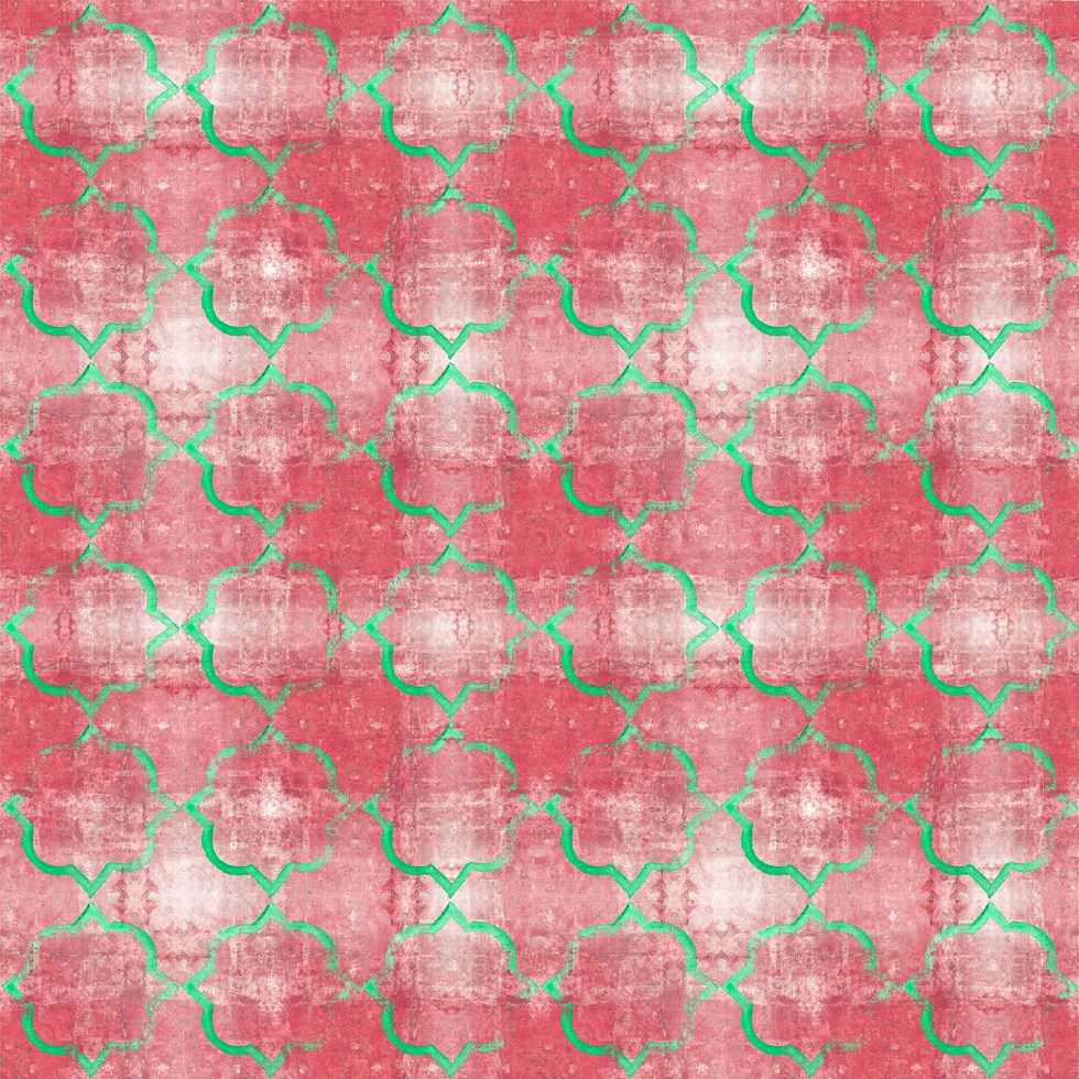 Marble print soft red