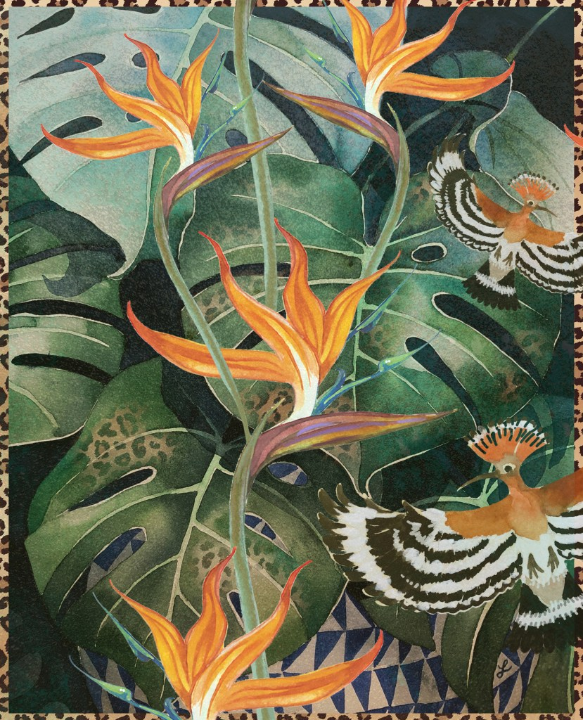 African strelitzia floral design by Leanne Nowell