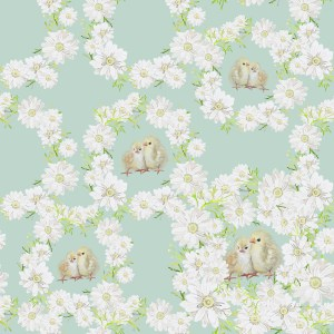 Daisy chain Easter print by paperbrush