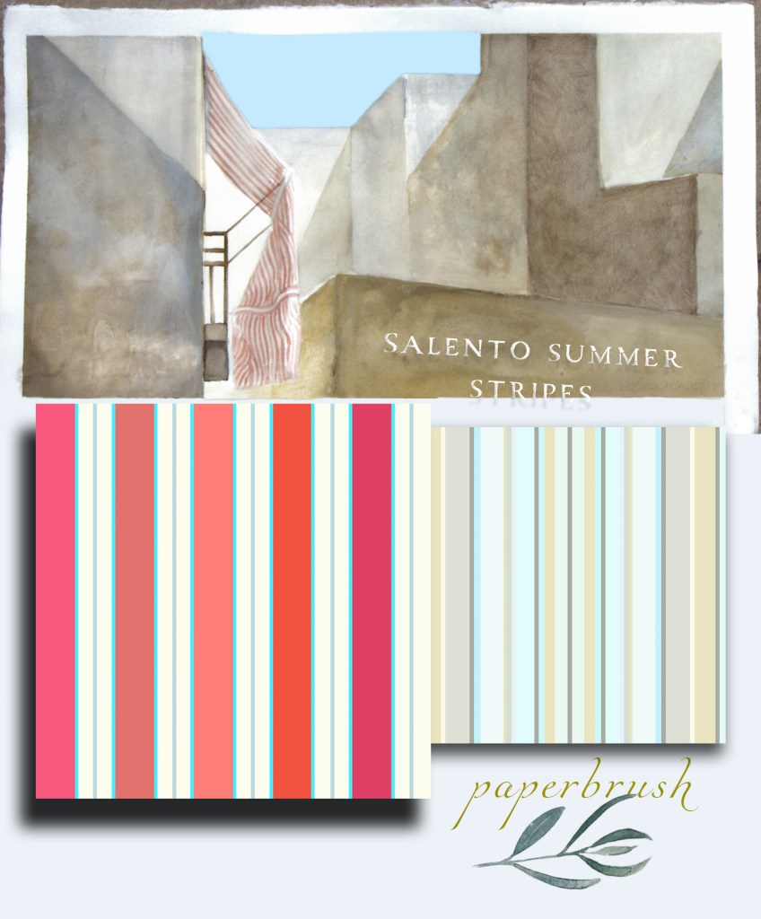 Salento summer stripes by Leanne Talbot Nowell for Paperbrush