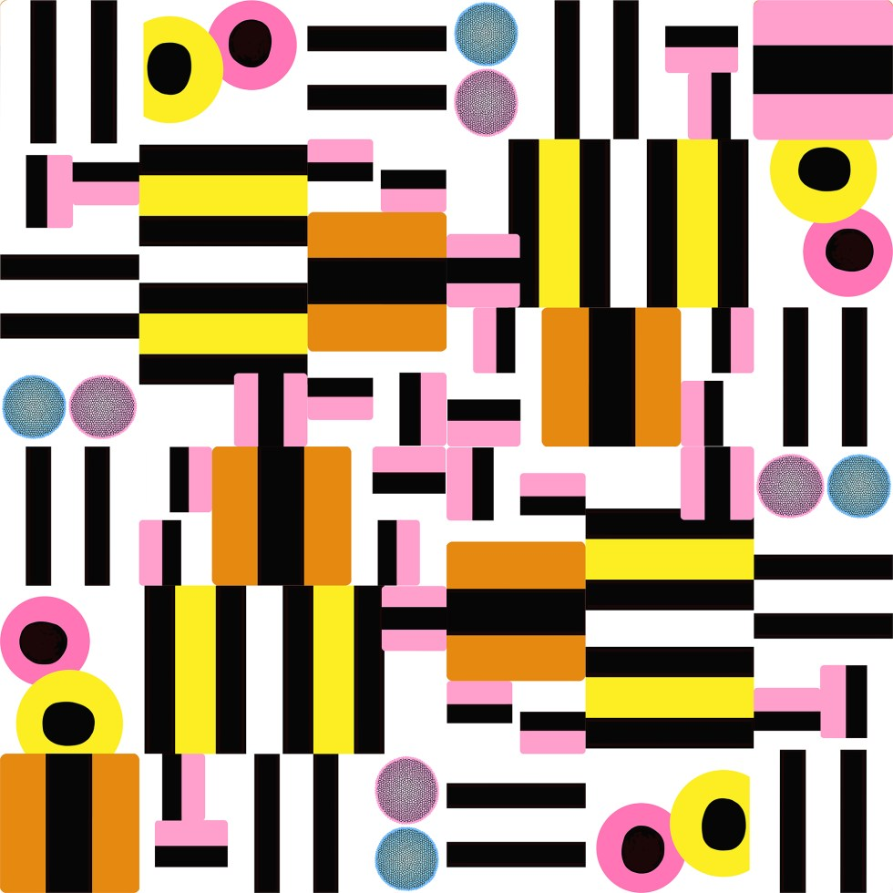 liquorice all sorts stripes by Leanne Talbot Nowell at paperbrush