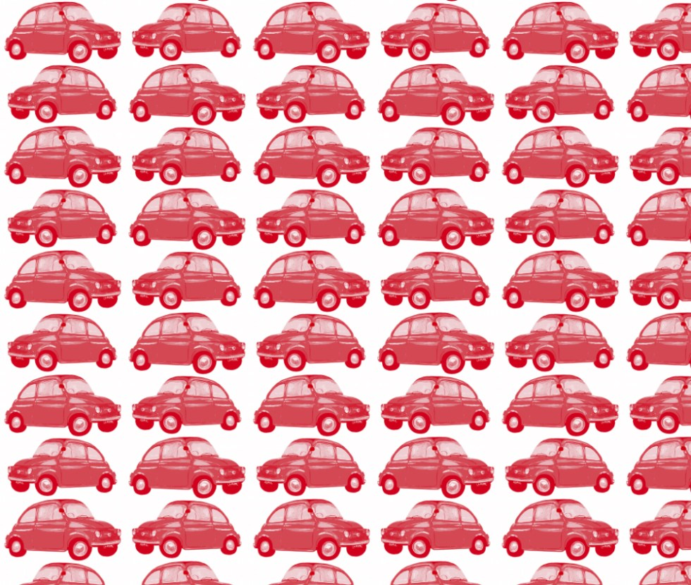 fiat cinquecento red surface pattern Leanne Nowell