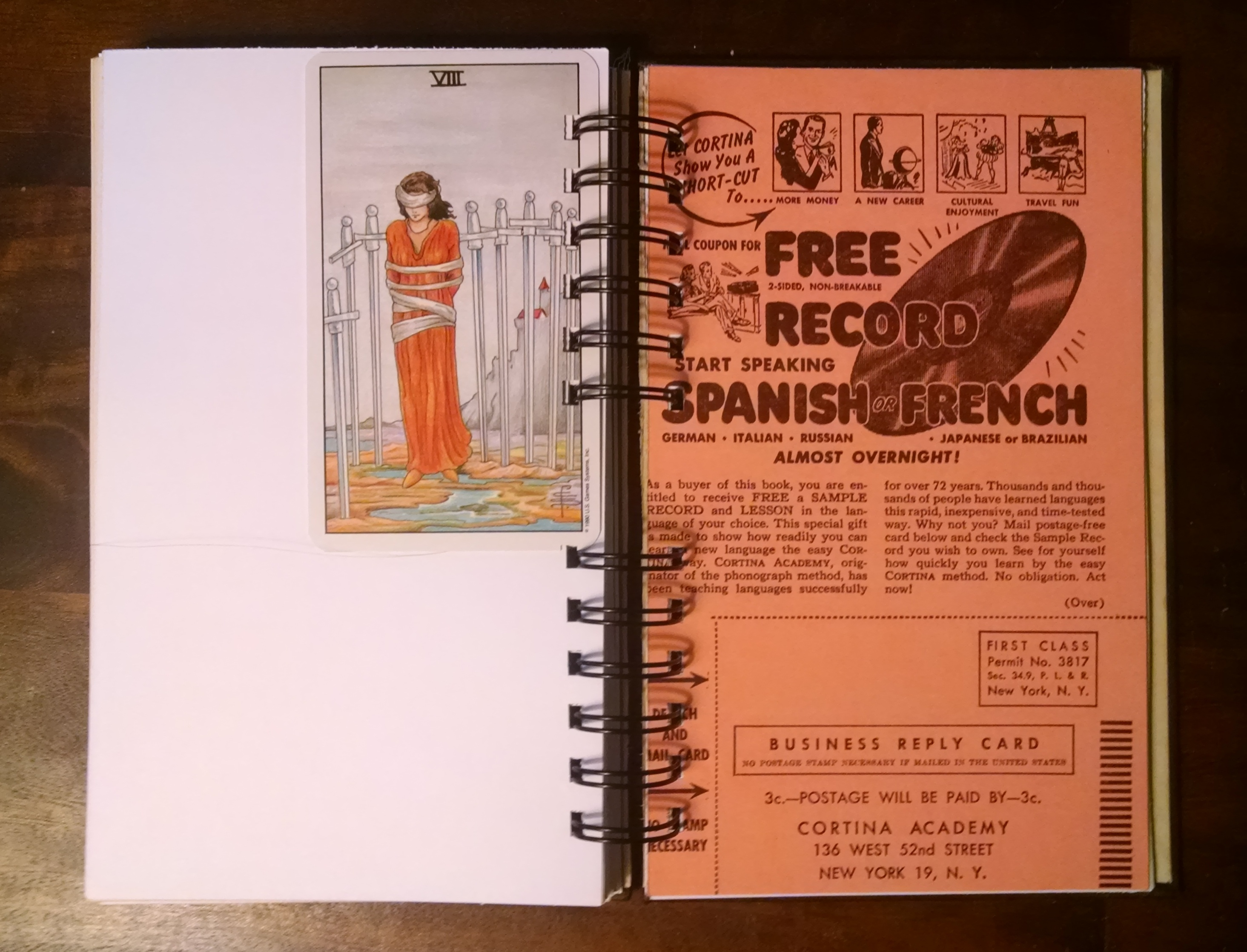 Cortina's German in 20 Lessons, Recycled Book Journal, Interior 2