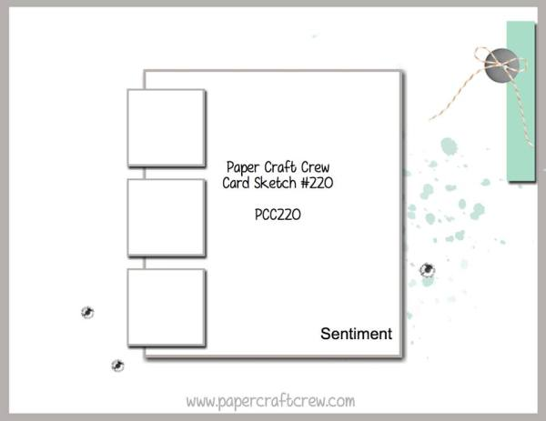 Visit the Paper Craft Crew and play along with Card Sketch 220. www.papercraftcrew.com