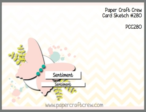 Play along with the Paper Craft Crew for Sketch Challenge 280. The challenge starts February 14, 2018 and ends February 20, 2018 at 1 PM EST.   Visit the blog at www.papercraftcrew.com to check out the design team samples and to submit your project.  #papercraftcrew #papercrafting #sketchchallenge #color #playalong #imakecards #cardmaker #diy #sendacard #craft #stampinup #cardchallenge #papercraft #bigshot #rainydayfun  #designteam #becreative #artsandcrafts #hobby #snailmail #createeveryday #crafttherapy #creativelifehappylife #pcc2018