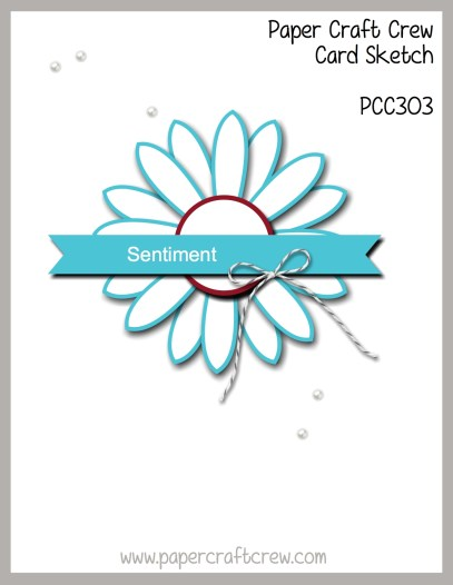 Paper Craft Crew Sketch Challenge 303! Play along with the latest challenge by visiting www.papercraftcrew.com #stampinup #papercraftcrew #papercrafts #stamping #sunnygirlscraps #crafting #crafts #craft #creative #creativity #create #sketchchallenge #colorchallenge #inspirationalchallenge #tictactoechallenge