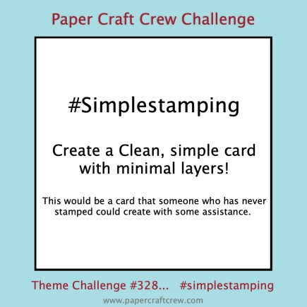 Simple Stamping Theme Challenge with minimal layers