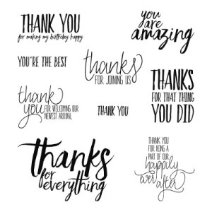thank you messages stamp set all things thanks