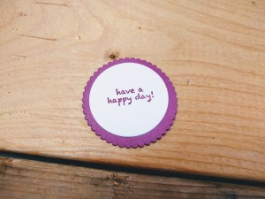 how to make a birthday card - stamp your message