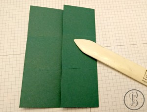 How To Make A Paper Box - creasing