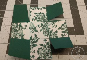 how to make a paper box - varied inside