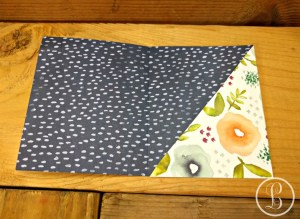 DIY gift card holder fold the pouch