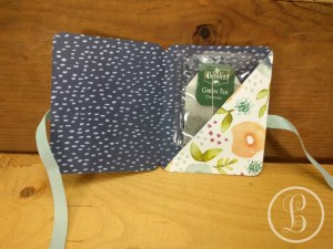 DIY gift card holder complete with tea