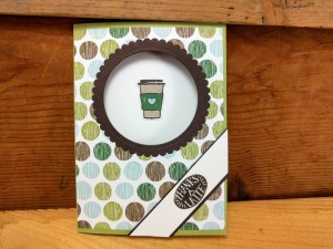 thank you card ideas - latte example