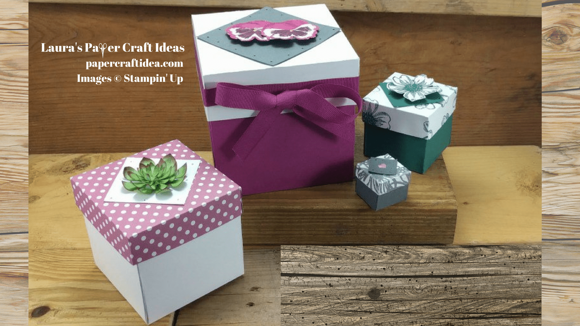 How To Make A Paper Box Stampin Up Laura S Paper Craft Ideas