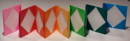 colorful origami accordion rainbow arcobaleno