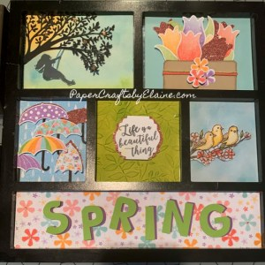 magnetic frame kit, interchangeable kits, holiday frame kits, Spring framed kit, stampin up, scrapbook kit, pre made kits,
