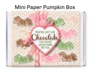Mini Paper Pumpkin box decor, gift for anyone, Great gifts for teachers, gifts for BFF, Valentine Box of Chocolate,
