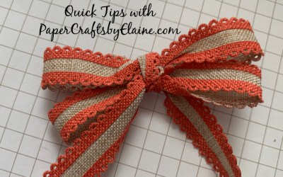 How to tie a Double Bow