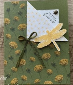 Dragonfly garden bundle, Dandy Garden DSP, Stampin' Up Gift Certificate, purchase Stampin' Up gift cards