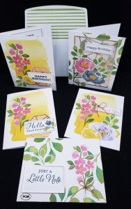 hello Dear Friend card kit, all inclusive card kit, crafting from a box, crafting kits, all inclusive card kits in a box, greeting cards, handmade greeting cards,