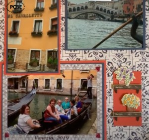 Page 2 of 2 scrapbook layout, travel scrapbook layout ideas, travel scrapbook papers, trip to Italy scrapbook layout, s