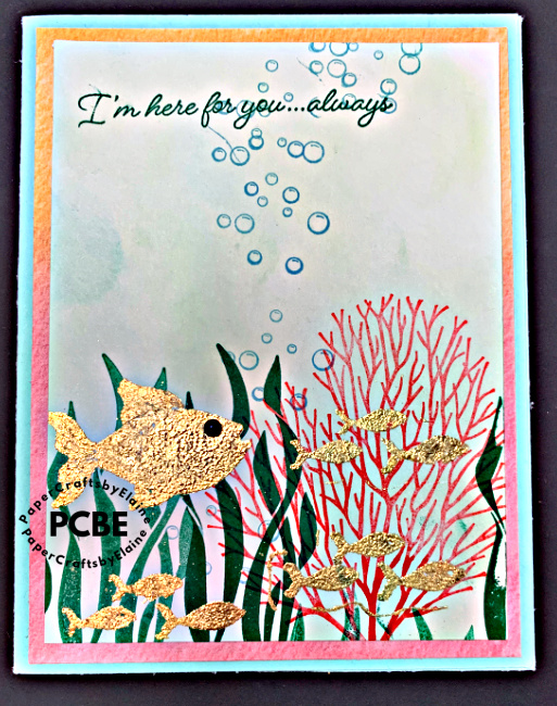 Stampin\' Up SeaScape in Gold
