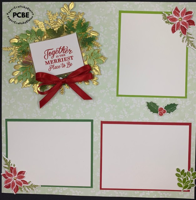 Merriest Moments bundle, scrapbook layouts, scrapbook pages, christmas scrapbook pages, stamping up Christmas pages,