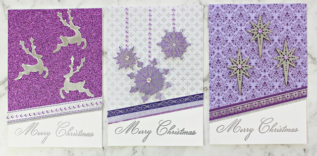 Kaisercraft Christmas Jewel Trio of Christmas Cards with Instructions