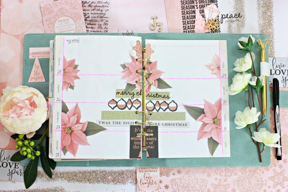 December Planner Set Up - Paper Craft Secrets Kaisercraft