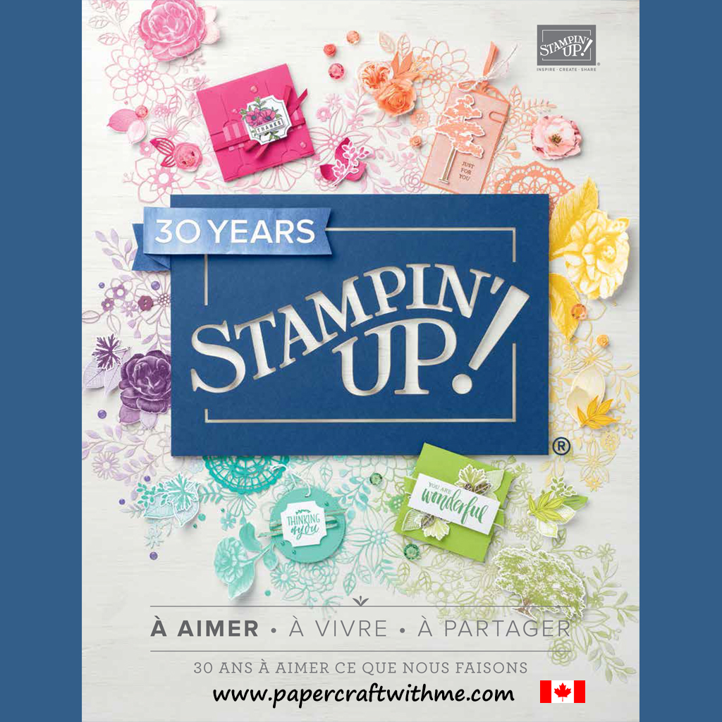French Canadian version of the Stampin' Up! 2018/2019 Annual Catalogue from www.papercraftwithme.com