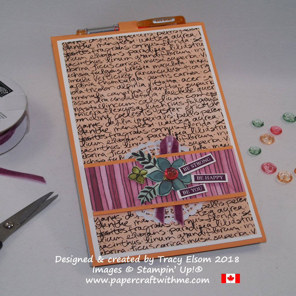 Large notepad decorated with Share What You Love Specialty Designer Series Paper and a sentiment from the Rooted in Nature Stamp Set from Stampin' Up!