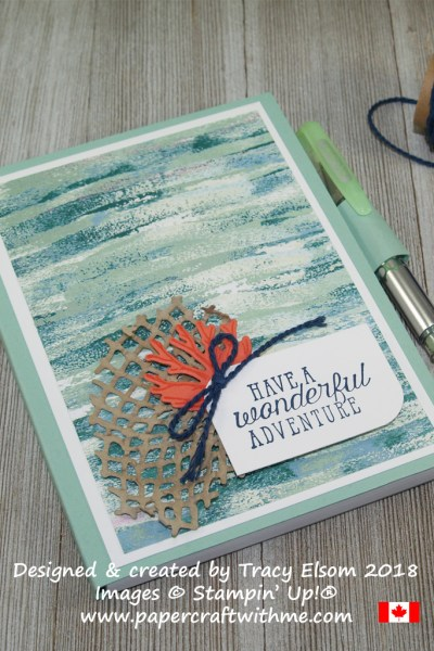 Simple notepad cover created using the Sea of Textures Stamp Set and Under the Sea Framelits Dies from Stampin' Up!