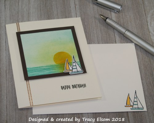 1515 Sailboat Birthday Card