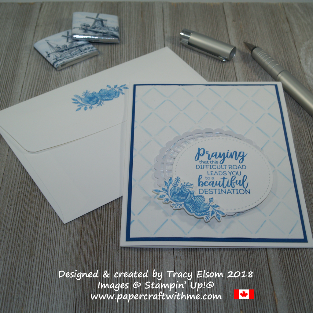 Thinking of you card created using the Beautiful Promenade Stamp Set and coordinating Beautiful Layers Thinlits Dies from Stampin' Up!