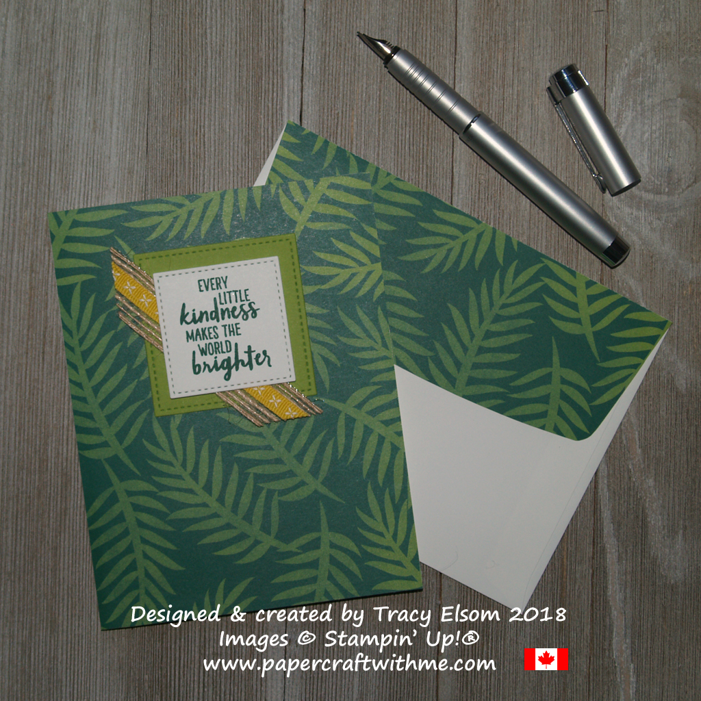 Kindness card created using the Waterfront Stamp Set and Tropical Escape Designer Series Paper from Stampin' Up!