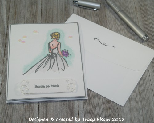 1520 Wedding Thanks Card