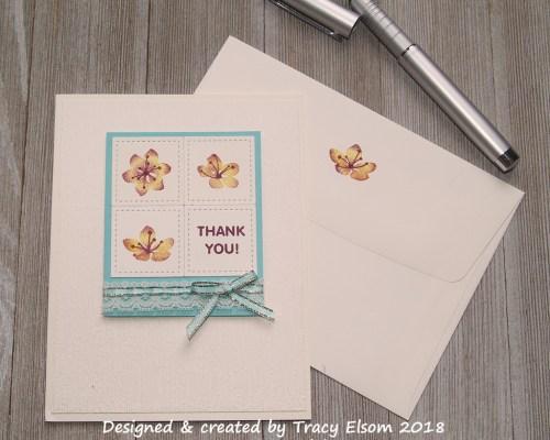 1521 Thread Ribbon Thank You Card